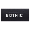 "Ghent 3/4"" Gothic Letters - 0.75"" Height - White - Plastic - 1 Each"