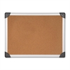 "Lorell Mounting Aluminum Frame Corkboards - 48"" Height x 96"" Width - Cork Surface - Resist Warping, Durable, Laminated, Resilient - Aluminum Frame - 1 Each"
