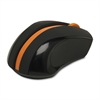 Mouse - Optical - Wireless - Radio Frequency - Orange, Black - Tilt Wheel