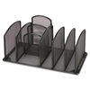"Lorell Deluxe Mesh Desktop Organizer - 3 Compartment(s) - 5.3"" Height x 10"" Width x 5.5"" Depth - Black - 1Each"
