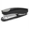 "Dual Shot Desktop Stapler - 20 Sheets Capacity - 210 Staple Capacity - Full Strip - 1/4"" Staple Size - Black"