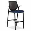 "Nucleus HN7 Cafe Height Stool - Mariner Seat - Four-legged Base - Mariner - 19"" Seat Width x 19"" Seat Depth - 25"" Width x 24.5"" Depth x 46.5"" Height"