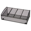 "Mesh Desk Valet - 4 Compartment(s) - 4.5"" Height x 12.3"" Width x 6.3"" Depth - Desktop - Black - Steel - 1Each"