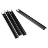 Lorell Lateral File Front-to-back Rail Kit - Lateral File Supported - 4/Box - Black
