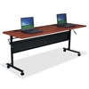 "Lorell Flipper Training Table - Rectangle Top - 60"" Table Top Length x 24"" Table Top Width x 1"" Table Top Thickness - 29.50"" Height - Assembly Required"
