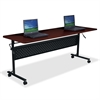 "Flipper Training Table - Rectangle Top - 72"" Table Top Length x 24"" Table Top Width x 1"" Table Top Thickness - 29.50"" Height - Assembly Required"