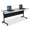 "Lorell Flipper Training Table - Rectangle Top - 72"" Table Top Length x 24"" Table Top Width x 1"" Table Top Thickness - 29.50"" Height - Assembly Required"