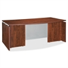 "Lorell Ascent Bowfront Desk Shell - 70.9"" x 41.4"" x 29.5"" - Finish: Cherry, Laminate"
