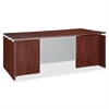 "Lorell Ascent Rectangular Executive Desk - 66.1"" x 29.5"" x 29.5"" - Finish: Laminate, Mahogany"