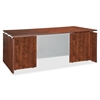 "Lorell Ascent Rectangular Executive Desk - 59"" x 29.5"" x 29.5"" - Finish: Cherry, Laminate"