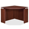 "Lorell Ascent Corner Desk - 35.4"" x 35.4"" x 29.5"" - Finish: Laminate, Mahogany"