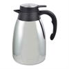 Genuine Joe 1.5 L Vacuum Insulated Chrome Carafe - 1.3 quart (1.2 L) - Vacuum - Steel Gray