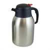 Genuine Joe Everyday Double Wall Vacuum Carafe - 2.1 quart (2 L) - Vacuum - Stainless Steel