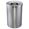 Genuine Joe Open Mouth Waste Receptacle - 30 gal Capacity - Stainless Steel - Silver