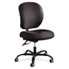 "Safco Alday 24/7 Task Chair - Polyester Black Seat - Plastic Back - 5-star Base - Black - Nylon - 20.50"" Seat Width x 20"" Seat Depth - 26"" Width x 26"" Depth x 38"" Height"