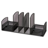 Lorell Mesh Multipurpose Desktop Organizer - 3 Compartment(s) - Black - Steel - 1Each