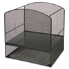 "Lorell Mesh Hanging File Organizer - 15.5"" Height x 13.5"" Width x 11.3"" Depth - Black - Steel - 1Each"