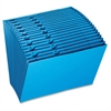 "Pendaflex A-Z Open Top Expanding File - Letter - 8 1/2"" x 11"" Sheet Size - 21 Pocket(s) - Paper - Blue - 1 Each"