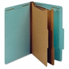 "Recycled Classification Folder - Legal - 8 1/2"" x 14"" Sheet Size - 2 1/2"" Expansion - 6 Fastener(s) - 2"" Fastener Capacity for Folder, 1"" Fastener Capacity for Divider - 2/5 Tab Cut - Right"