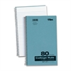 "TOPS 1-Subject Kraft Notebook - 80 Sheets - Printed - Wire Bound 9.50"" x 6"" - White Paper - Blue Cover - Pressboard Cover - 1Each"