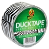 "Duck Printed Duct Tape - 1.88"" Width x 30 ft Length - 1 / Roll - Zebra"
