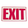 "Miller's Creek Reflective Exit Sign - 1 Each - Exit Print/Message - 9.8"" Width x 7.8"" Height - Rectangular Shape - Red Print/Message Color - Flexible, Recyclable, Adhesive, Reflective - Red"