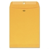 "Quality Park Multipurpose Gummed Clasp Envelopes - Clasp - 10"" Width x 13"" Length - 28 lb - Clasp - Kraft - 100 / Box - Brown Kraft"