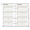 """Day Runner Telephone/Address A-Z Planner Tab - 3.75"""" x 6.75"""" - 6-ring - White - Paper - Hole-punched, Tabbed"""