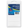 "All-Purpose Label - Permanent Adhesive - 1"" Width x 2.75"" Length - 4 / Sheet - Rectangle - White - 128 / Pack"