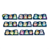 "Animal Theme Bulletin Board Set - 9 Alphabet - 0.06"" Height x 20"" Width x 29.50"" Length - Multicolor - 1 Pack"