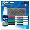 Expo Dry Erase Marker - Fine Point Type - Red, Blue, Green, Black - 4 / Set