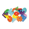 "ChenilleKraft WonderFoam Giant Design Shapes - 40 (Shape) Shape x 7"" Width - Assorted - Foam - 40 / Set"