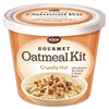 Njoy Gourmet Crunchy Nut Oatmeal Kit - Resealable Lid, Individually Wrapped - Cup - 1 Serving Cup - 8 / Carton