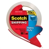 "Scotch Premium Performance Packaging Tape - 1.88"" Width x 54.60 yd Length - 3"" Core - Synthetic Rubber Resin - 3.10 mil - Heavy Duty - Dispenser Included - 1 Each - Clear"