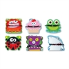 Carson-Dellosa Pencil Topper - 1 Ladybug, 1 Frog, 1 Shark, 1 Monster, 1 Robot, 1 Cupcake - Perforated Hole - Multicolor - Card Stock - 6 / Pack