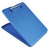 "Saunders SlimMate Storage Clipboard - 0.50"" Clip Capacity - Low-profile - Polypropylene - Blue"