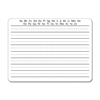 "2-Sided Writing Whiteboard - 12"" (1 ft) Width x 9"" (0.8 ft) Height - White Surface - Rectangle - 1 / Pack"