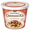 Njoy Gourmet Morning Harvest Oatmeal - Resealable Lid, Individually Wrapped - Mixed Fruit, Mixed Nut, Brown Sugar, Morning Harvest - Cup - 1 Serving Cup - 8 / Carton