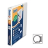 "Stride QuickFit Round Ring Unique Design Binder - 1"" Binder Capacity - Letter - 8 1/2"" x 11"" Sheet Size - 175 Sheet Capacity - Round Ring Fastener - 2 Internal Pocket(s) - Vinyl - White - Recycled - 1"