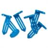 "MMF Nylon Vault Key-Hole Signals - 25 / Box - 1.9"" Width x 1"" Height - Plastic - Blue"