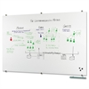 "Balt Visionary Glass Dry-Erase Board - 72"" (6 ft) Width x 48"" (4 ft) Height - White Glass Surface - Rectangle - Assembly Required - 1 Each"