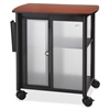 "Impromptu Personal Mobile Storage Center - 1 Shelf - 200 lb Capacity - 4 Casters - 2.50"" Caster Size - Melamine, Polycarbonate, Steel - 25.3"" Width x 17.3"" Depth x 26.8"" Height - Black Steel Fra"