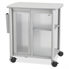 "Impromptu Personal Mobile Storage Center - 1 Shelf - 200 lb Capacity - 4 Casters - 2.50"" Caster Size - Steel, Polycarbonate, Melamine - 25.3"" Width x 17.3"" Depth x 26.8"" Height - Metallic Gray F"