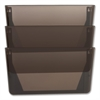 "Sparco Stak-A-File Vertical Filing Systems - 14.5"" Height x 13.1"" Width x 4.3"" Depth - Wall Mountable - Smoke - 3 / Pack"