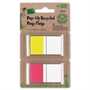 "Redi-Tag Redi-tag Pop-up Recycled Page Flags - 25 x Red, 25 x Yellow - 1"" x 1.70"" - Assorted - Removable, Repositionable, Solvent-free Adhesive - 50 / Pack"