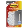 Command Clear Cord Clips, Flat, 4 Clips with 5 Clear Strips - Cord Clip - Clear