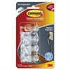 Command Clear Cord Clips, Medium, 4 Clips with 5 Clear Strips - Cord Clip - Clear - Plastic