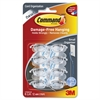 Command Clear Cord Clips, Small, 8 Clips with 12 Clear Strips - Cord Clip - Clear - Plastic