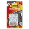 "Command Clear Large Cord Clips w/Clear Strips 17303CLR - 2.1"" Length x 0.9"" Width - 2 Pack - Clear - Plastic"