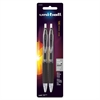 Uni-Ball 207 Bold Retractable Gel Pen - Bold Point Type - 1 mm Point Size - Black Pigment-based Ink - 2 / Pack